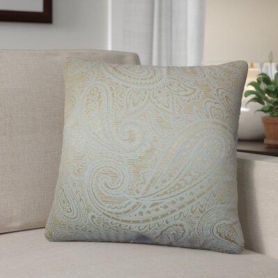 Digby Paisley Cotton Throw Pillow Color: Tan