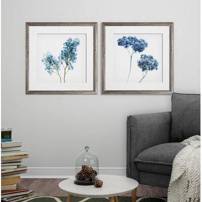 'Gorgeous Blue II' 2 Piece Framed Graphic Art Print Set Format: Brown Framed 12E6622FABC141CDBA140D899C284F10