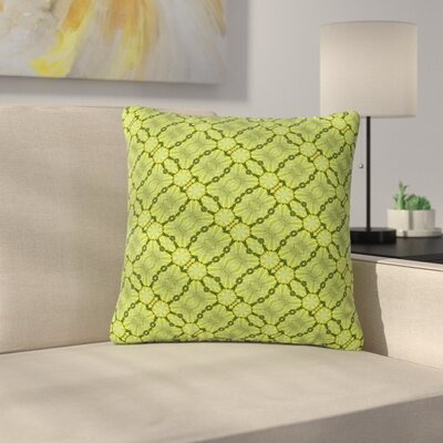 Laura Nicholson Leafy Lozenges Abstract Outdoor Throw Pillow Size: 18 H x 18 W x 5 D