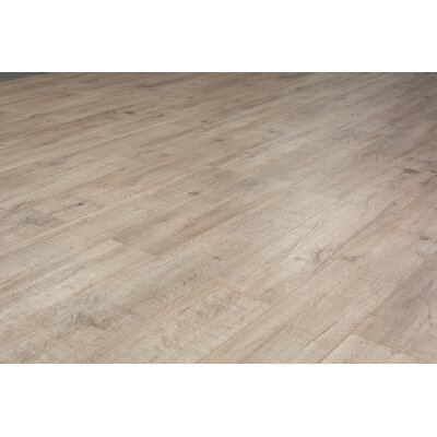 Pearl Leather 8 x 49 x 12mm Laminate Flooring in Beige (Set of 4)