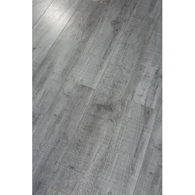 Pearl Leather 8 x 49 x 12mm Laminate Flooring in Gray