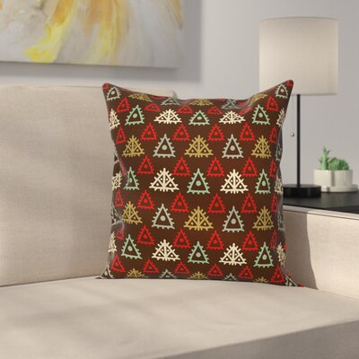 Modern Tribal Square Graphic Pillow Cover Size: 18 x 18
