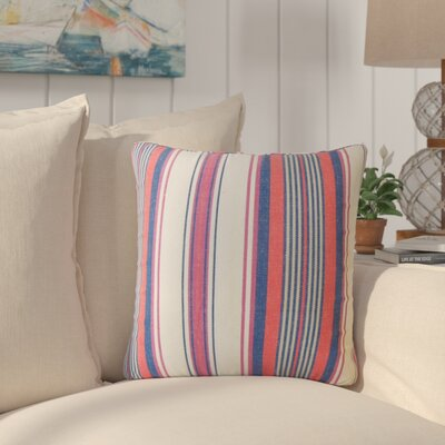 Imala Striped Down Filled 100% Cotton Throw Pillow Size: 18 x 18, Color: Blossom