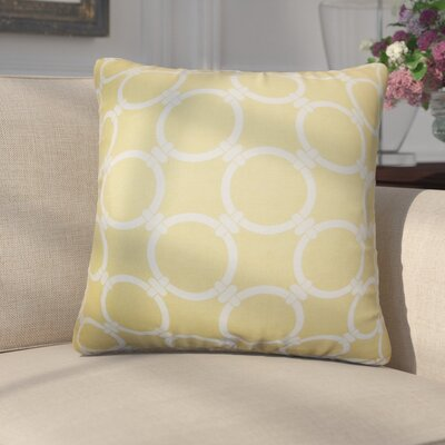 Donatella Geometric Cotton Throw Pillow Color: Yellow
