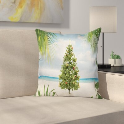 Christmas Holiday Party Tree Square Pillow Cover Size: 16 x 16