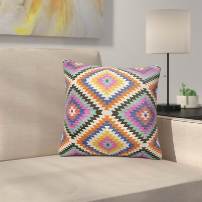 Sulien Indoor/Outdoor Throw Pillow Size: 18 H x 18 W x 5 D, Color: Teal/ Orange/ Grey/ Blue/ Pink