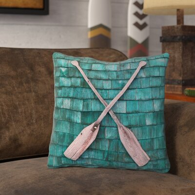 Brushton Rustic Oars Outdoor Throw Pillow Size: 16 x 16