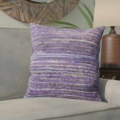 Hory Throw Pillow Color: Dark Orchid
