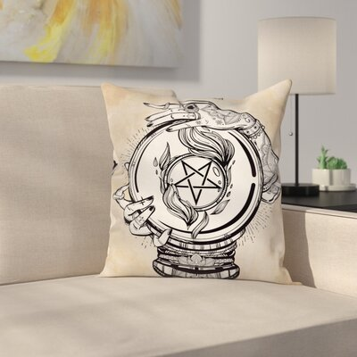 Medium Crystal Ball Indian Square Pillow Cover Size: 18 x 18