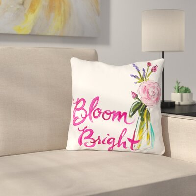 Brosnan Bloom Bright Throw Pillow Size: 18 H x 18 W x 3 D