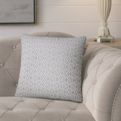 Talevi Geometric Throw Pillow Color: Pewter