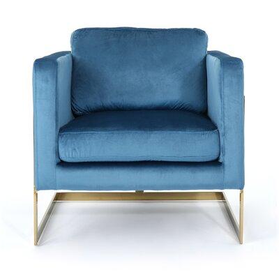 Josephina Modern Club Chair Upholstery: Aqua