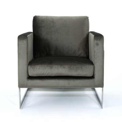 Josephina Modern Club Chair Upholstery: Gray