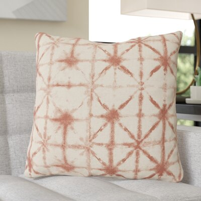 Middleton Throw Pillow Size: 18 H x 18 W x 4 D, Color: Rust/Beige