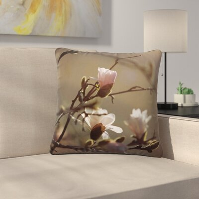 Angie Turner Magnolia Blooms Outdoor Throw Pillow Size: 16 H x 16 W x 5 D