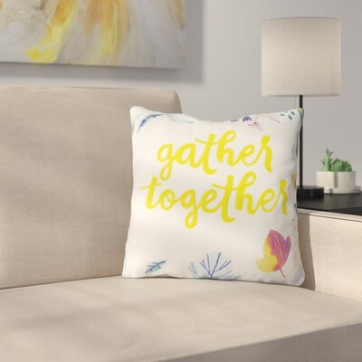 Vanvalkenburg Gather Together 100% Cotton Throw Pillow