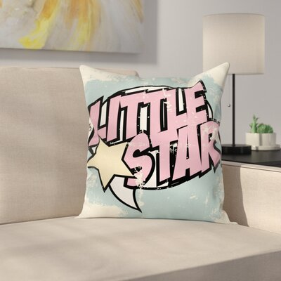 Grunge Retro Star Square Pillow Cover Size: 20 x 20