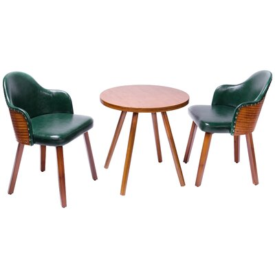 Lindbergh 3 Piece Dining Set Color: Dark green