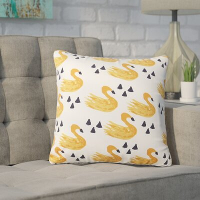 Delpha Swans Reversible Throw Pillow