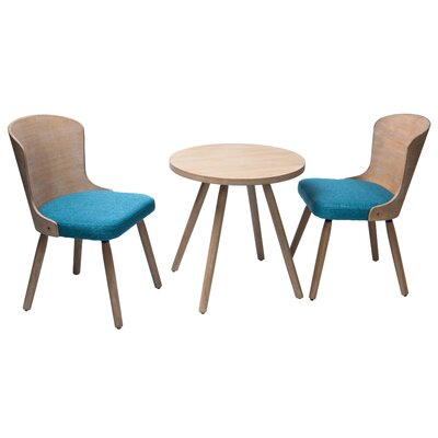 Lindauer 3 Piece Dining Set Color: Peacock