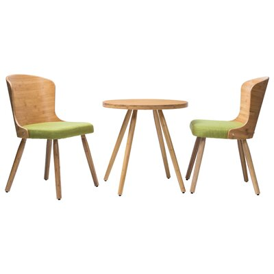 Lindauer 3 Piece Dining Set Color: Grass green