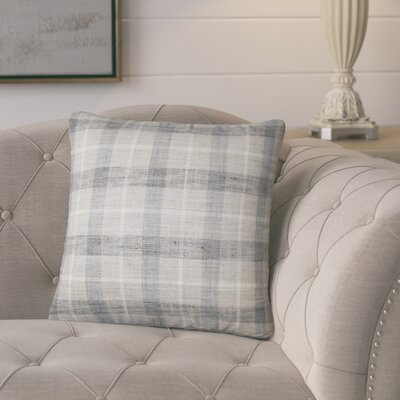 Parmley Plaid Throw Pillow Color: Metal