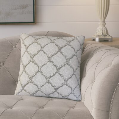 Mateus Geometric Cotton Throw Pillow Color: Sky Blue