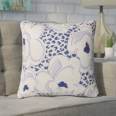 Wolford Floral Cotton Throw Pillow Color: Wisteria