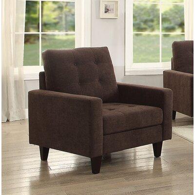 Cascio Armchair Upholstery: Chocolate