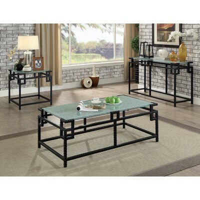 Keech Industrial 3 Piece Coffee Table Set