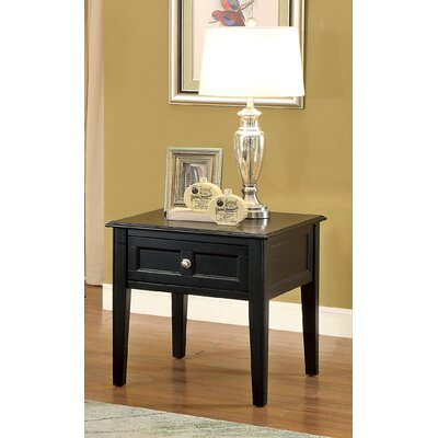 Lochleven Traditional End Table with Storage