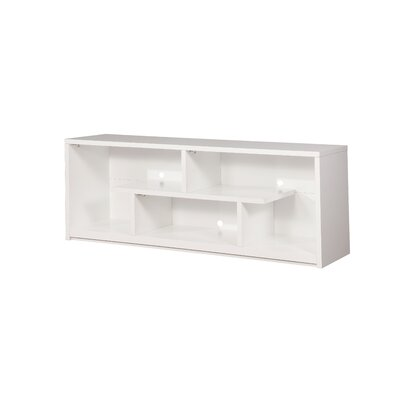 Goodfellow Contemporary 60-72 TV Stand Color: White, Width of TV Stand: 72