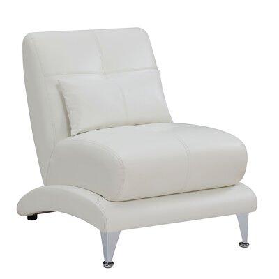 Gutshall Contemporary Slipper Chair Upholstery: White
