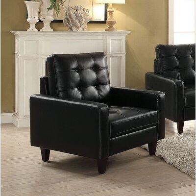 Cascio Armchair Upholstery: Black