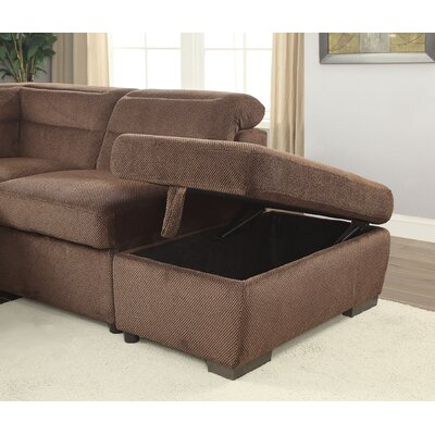 Gorski Transitional Ottoman Upholstery: Brown