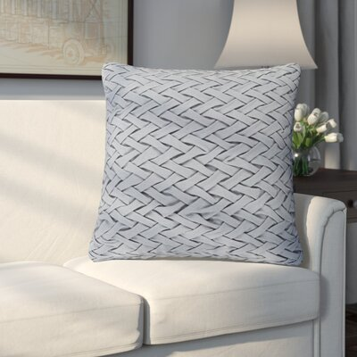 Eastlawn 100% Cotton Throw Pillow Size: 18 H x 18 W x 4 D, Color: Gray