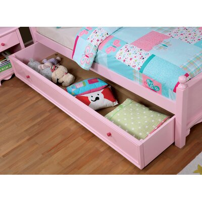 Contemporary Trundle Unit Color: Pink