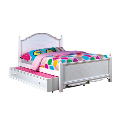 Contemporary Trundle Unit and Side Rail Size: Full, Bed Frame Color: White