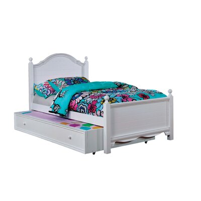 Contemporary Trundle Unit and Side Rail Size: Twin, Bed Frame Color: White