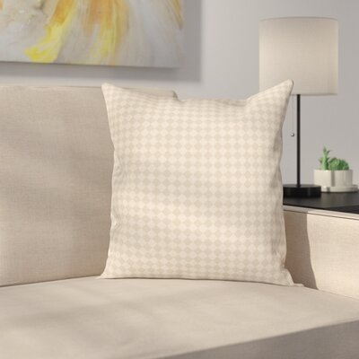 Retro Shabby Checked Cushion Pillow Cover Size: 24 x 24