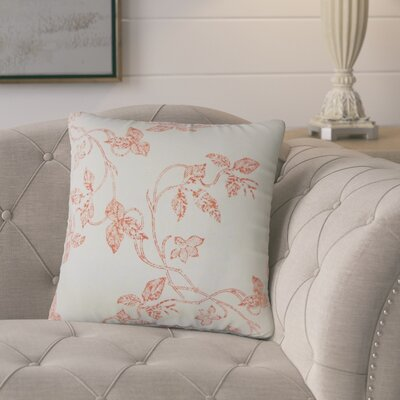 Portwood Floral Cotton Throw Pillow Color: Pepper