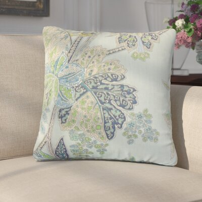 Marino Floral Linen Throw Pillow Color: Sapphire