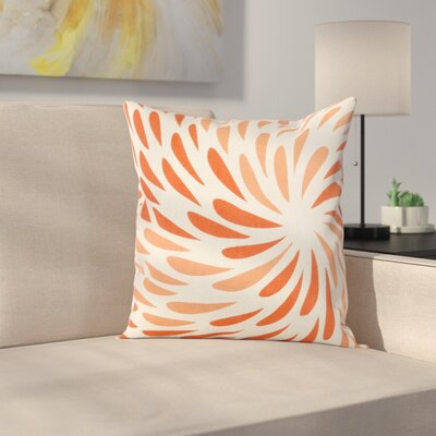 Cherelle Pillow Cover Size: 20 H x 20 W x 0.25 D, Color: Orange