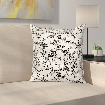 Baroque Blooms Vintage Cushion Pillow Cover Size: 16 x 16