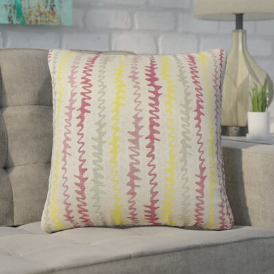 Dozier Zigzag Throw Pillow Color: Freesia
