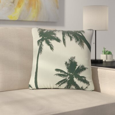 Mary Carol Fitzgerald Rise of Palms Photography Outdoor Throw Pillow Size: 16 H x 16 W x 5 D