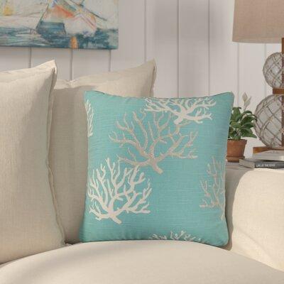 Martinique Coastal Cotton Throw Pillow Color: Blue ROHE7712 44415963