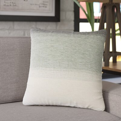 Fitu Ombre Throw Pillow Color: Blue