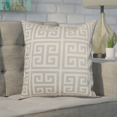 Blevins 100% Cotton Throw Pillow Color: Sherbet / Soft Grey, Size: 24 x 24
