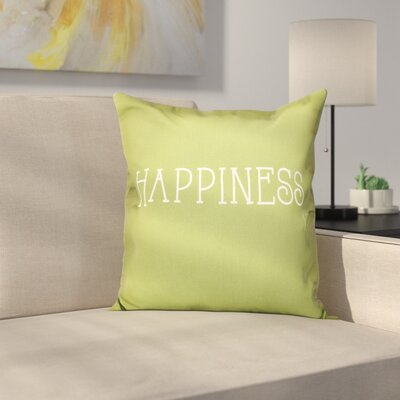 Olevia Happiness Throw Pillow Size: 26 H x 26 W, Color: Green